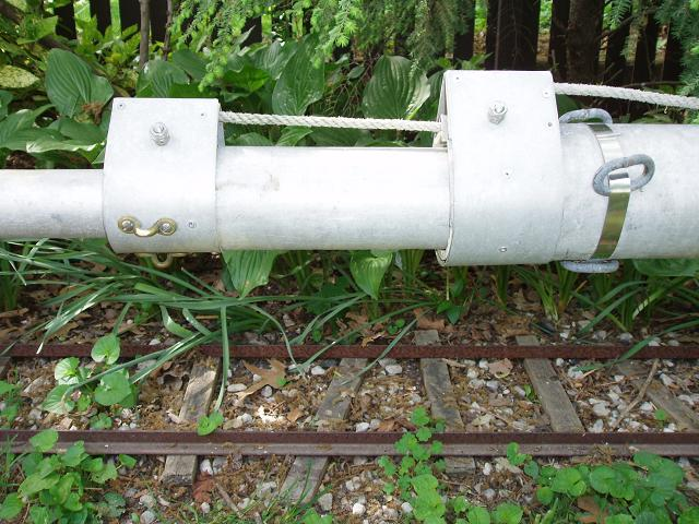 Irrigation pipe antenna mast for Homemade periscope pvc